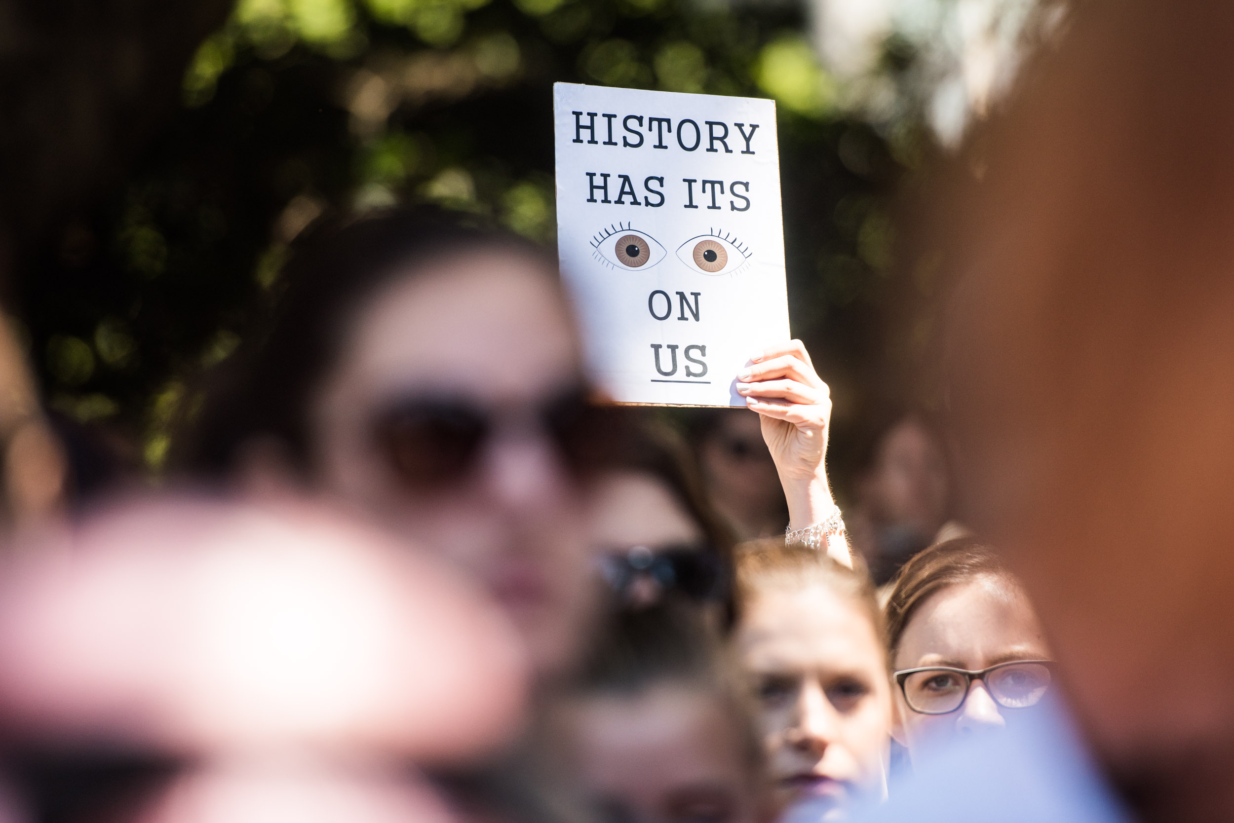 History has its eye on us - womens march - Current events - Photo credit Nicola Bailey.jpg