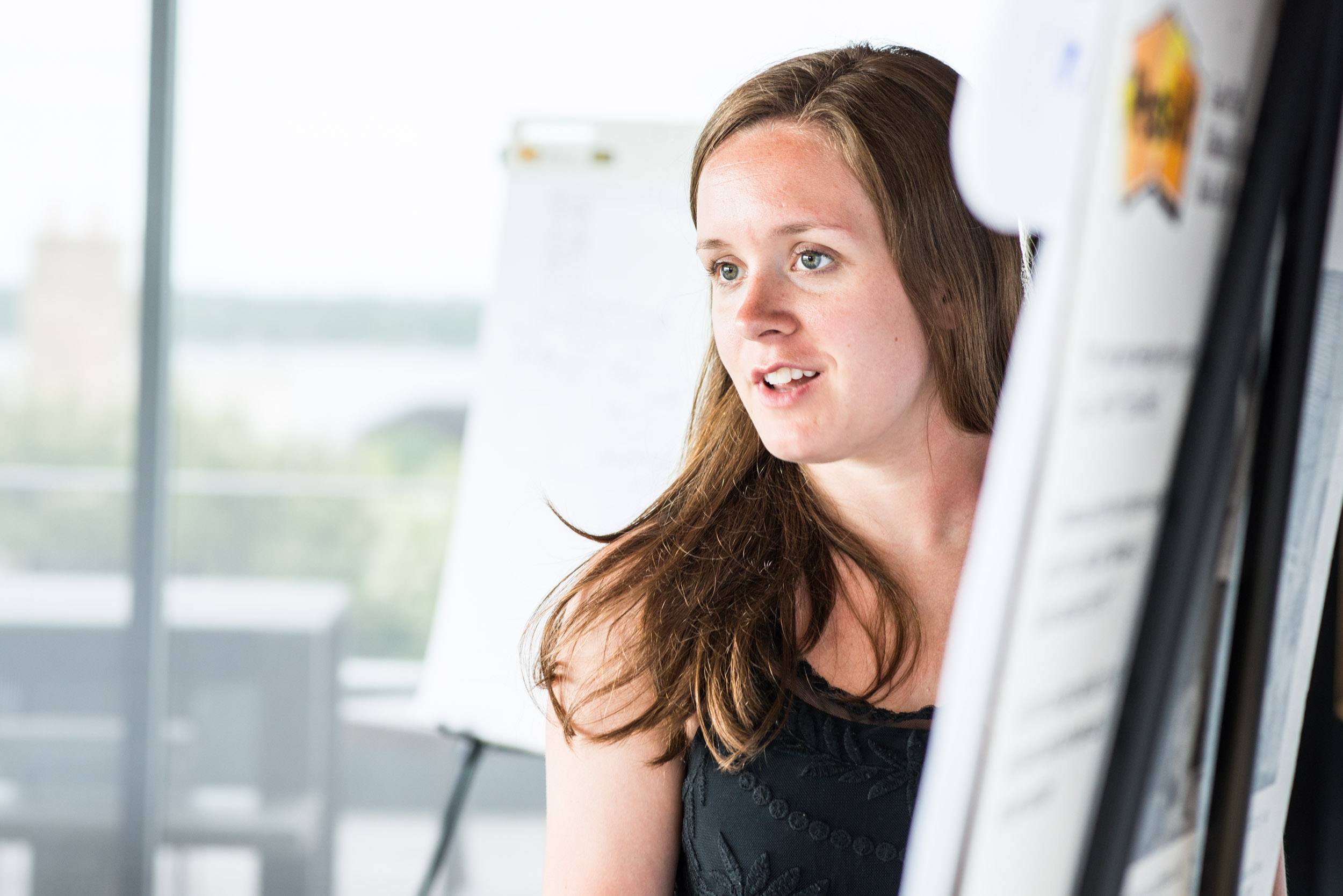 Woman at flipboard - worklife portraits -  photo credit Nicola Bailey.jpg