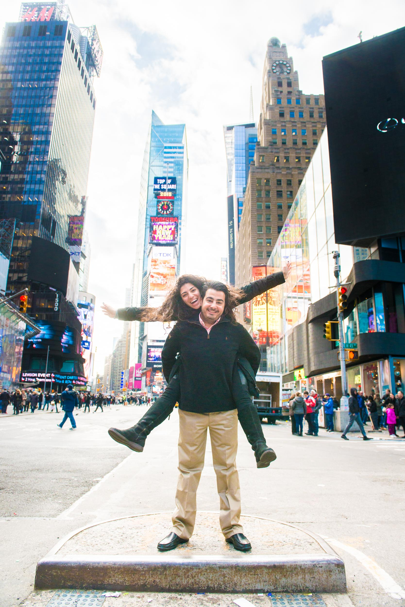 At Times Square - Engagement Portraits - Photo credit Nicola Bailey-2.jpg