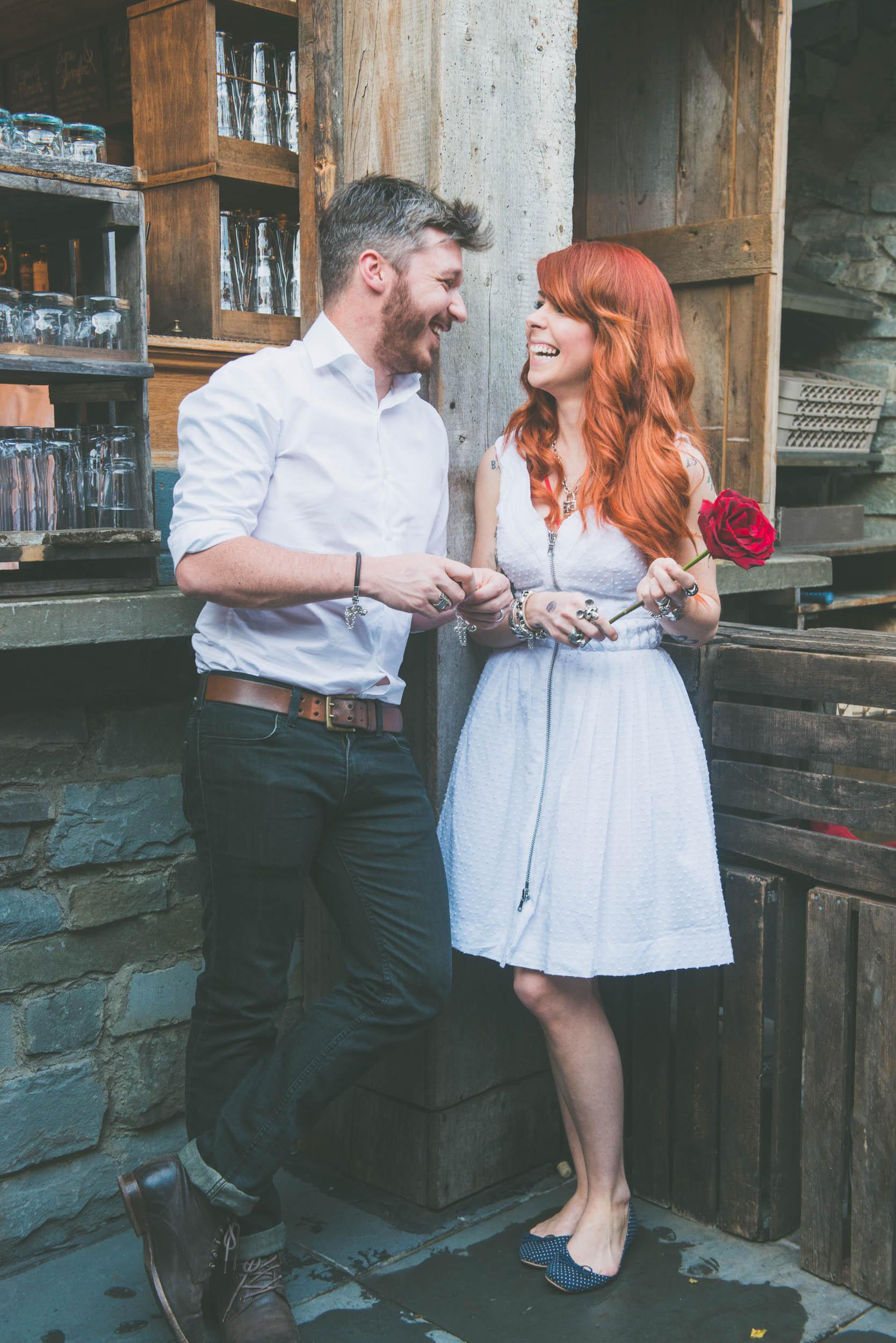Couple against wood - Engagement portraits -  Photo credit Nicola Bailey.jpg