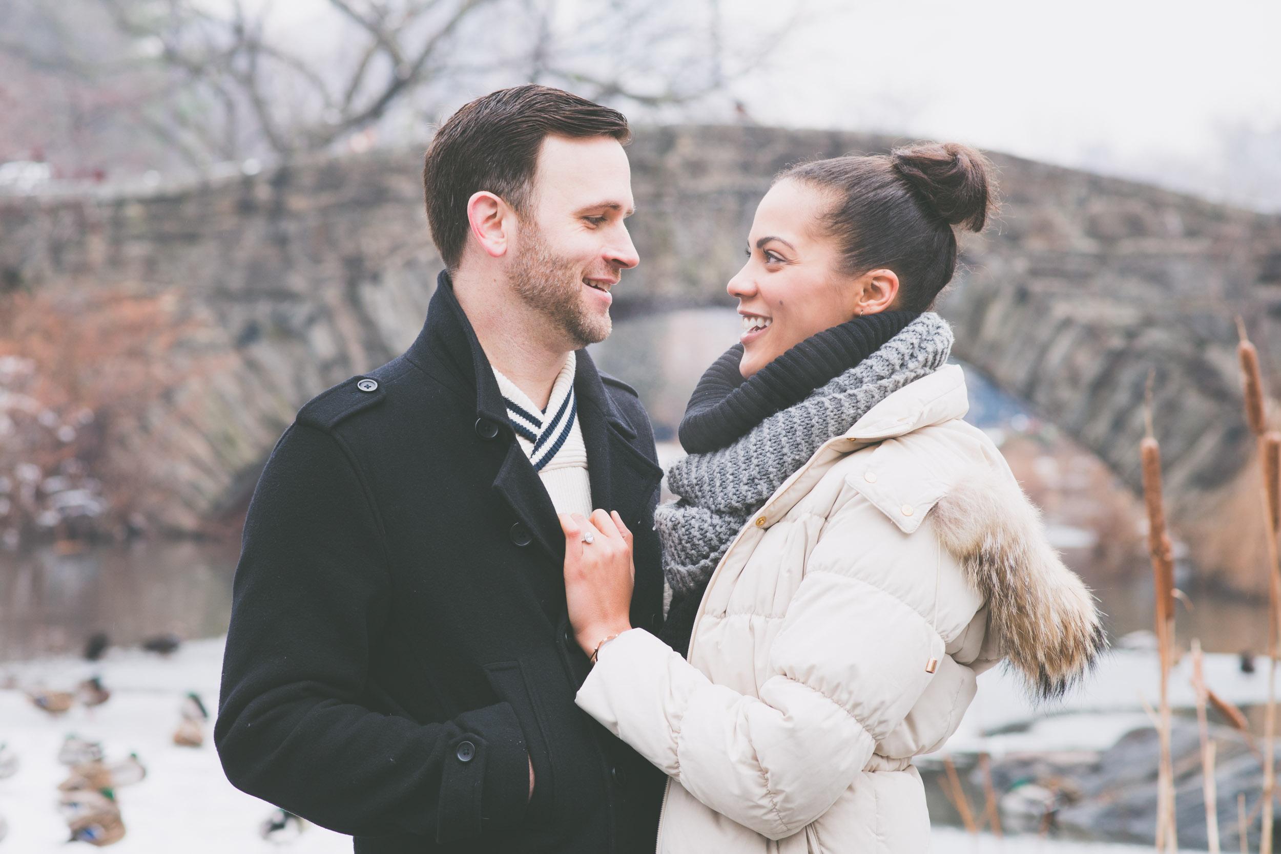 Couple at Gapstow bridge 2 - Engagement portraits -  Photo credit Nicola Bailey.jpg