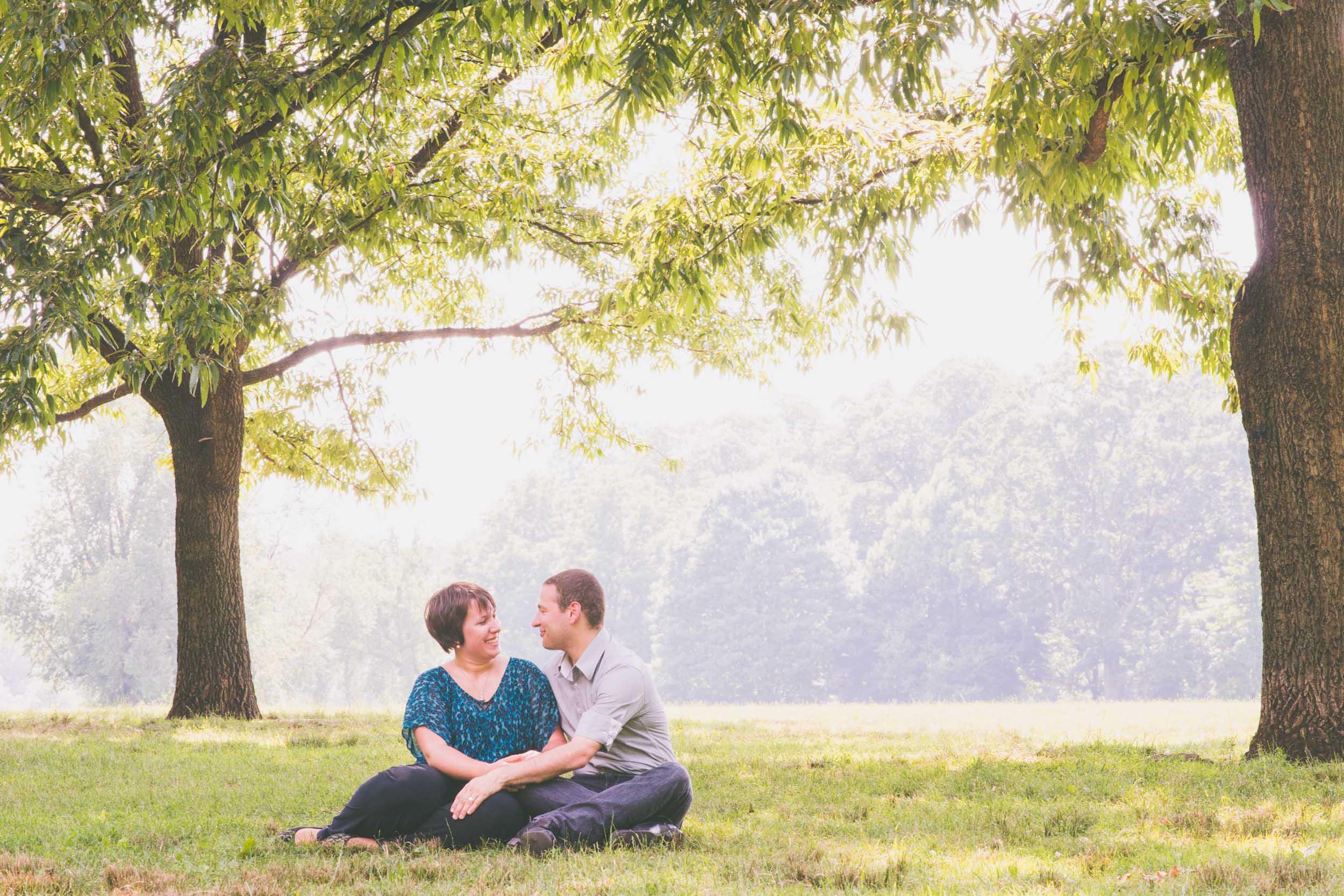 Couple between two trees - Engagement Portraits - Photo credit Nicola Bailey.jpg