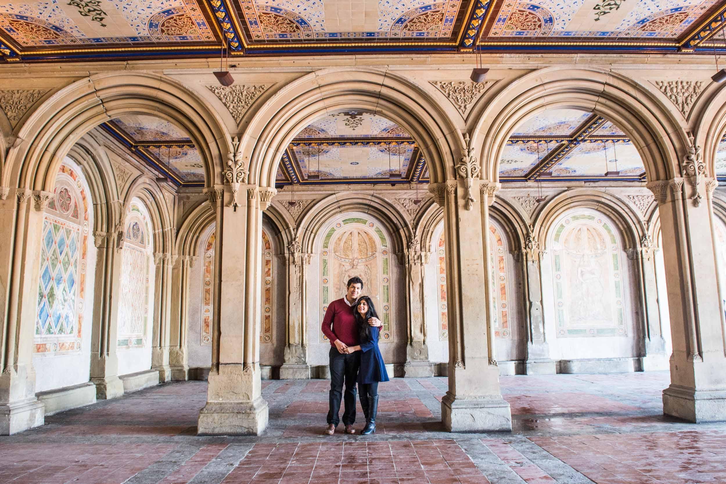 Couple of Bethesda arches - Engagement portraits -  Photo credit Nicola Bailey.jpg