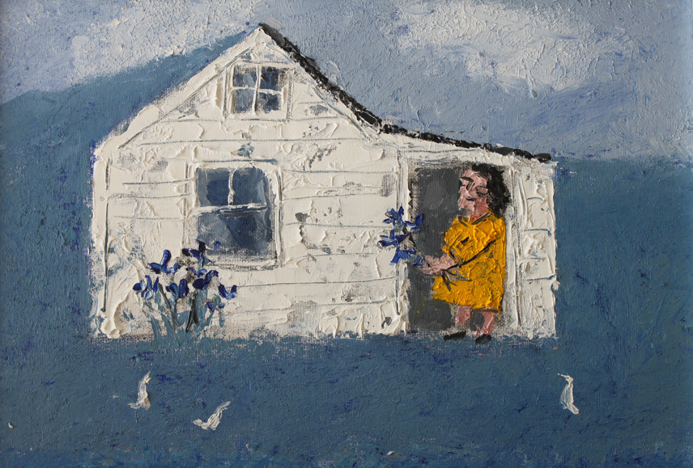 William Irvine - Woman with Blue irisesOil on Panel12 x 16 inches2017