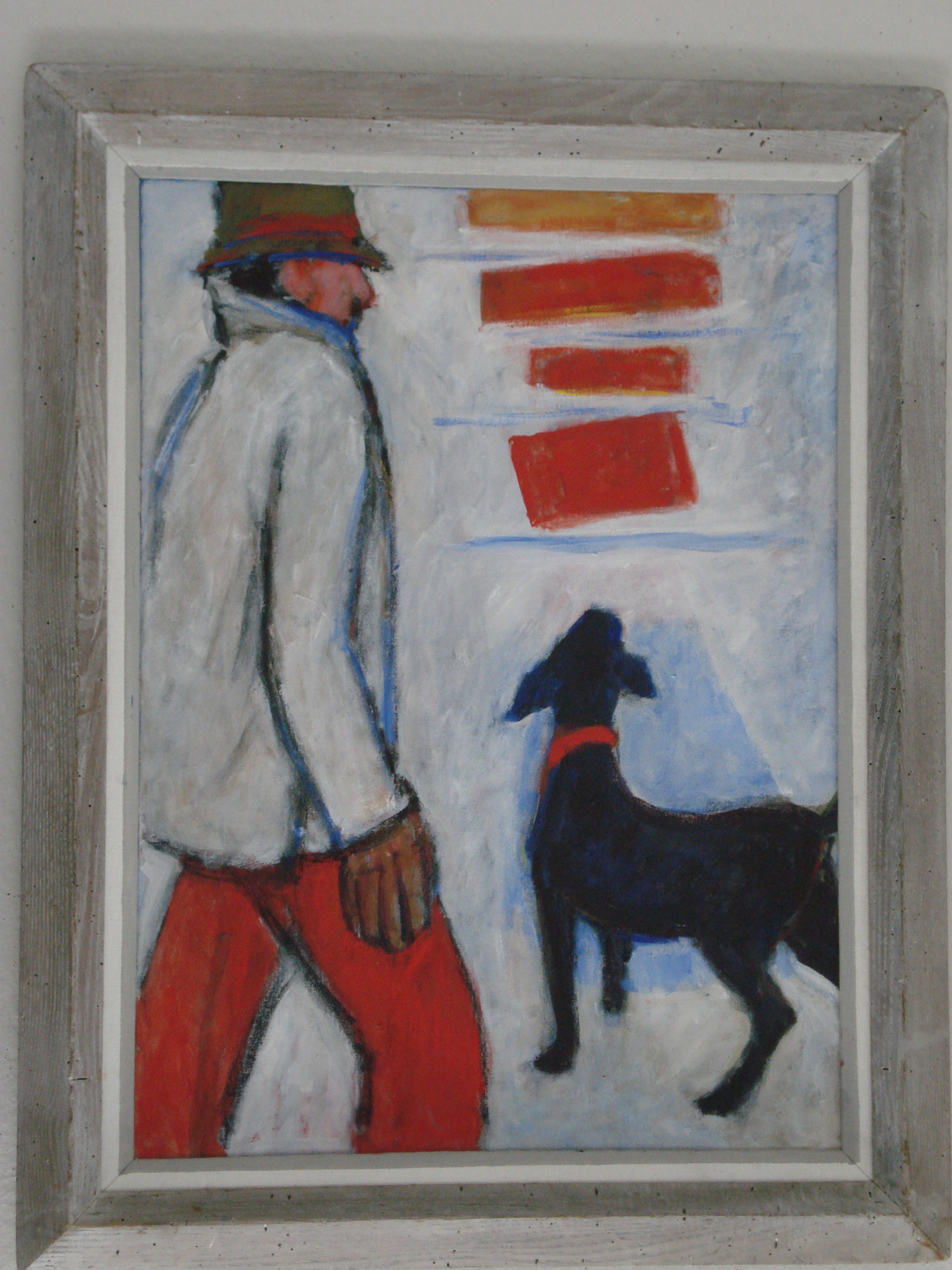 Thomas Barrett - Man with DogOil on Canvas36 x 24 inches