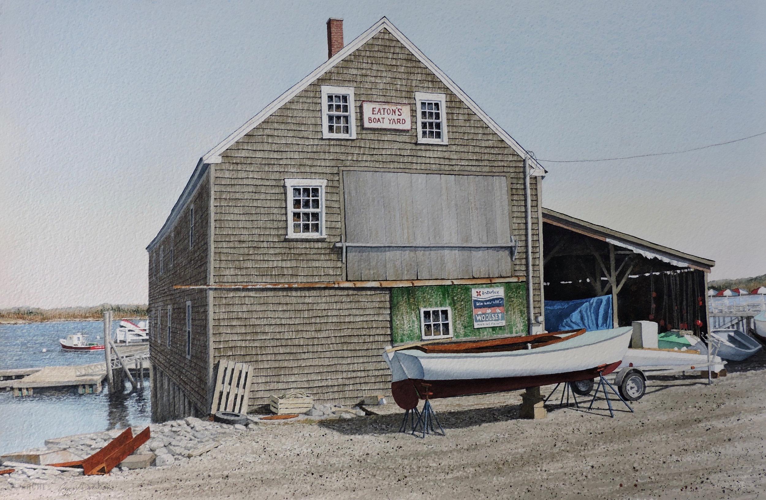 Gregory Dunham - Eaton's BoatyardWatercolor12 x 16 inches2015
