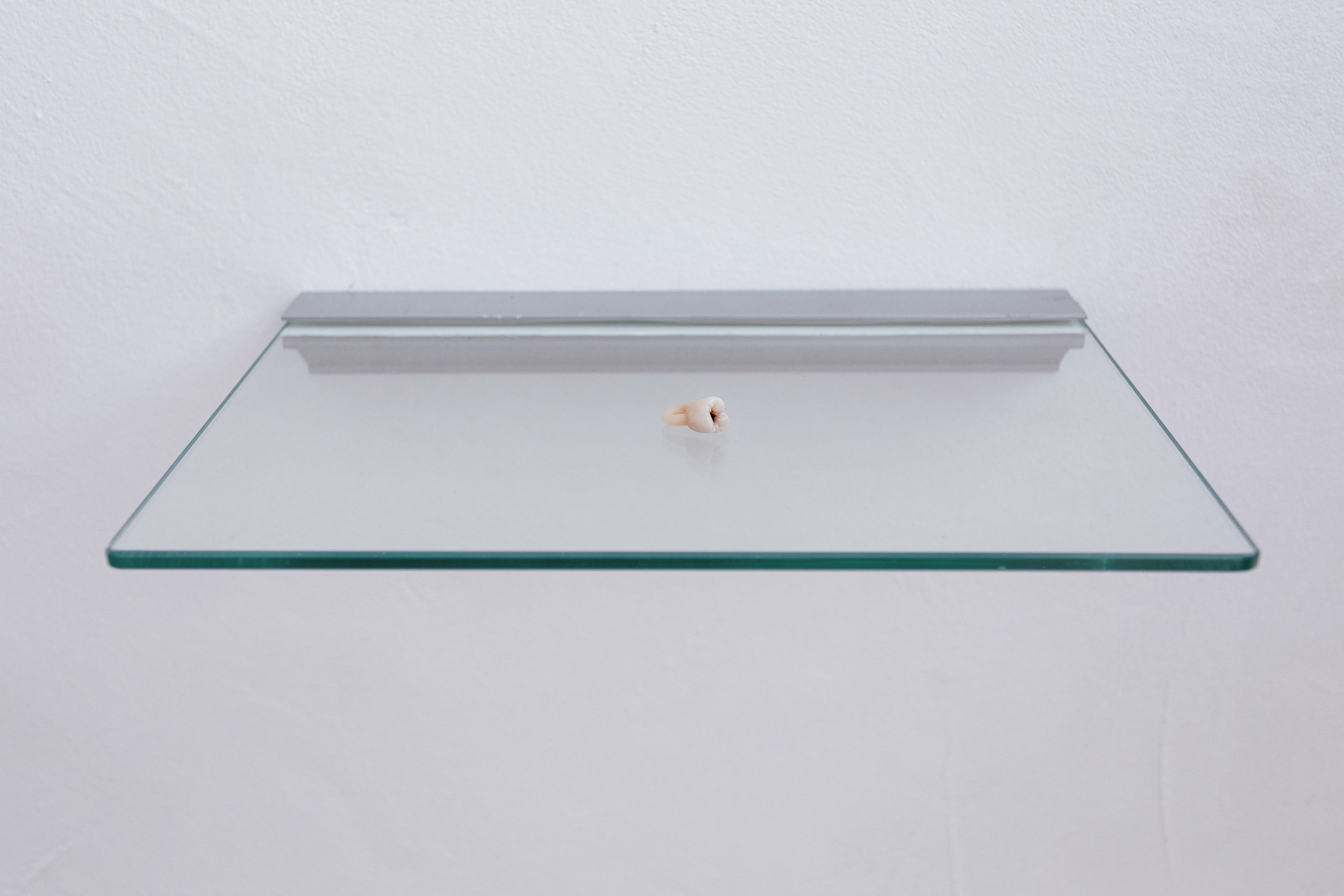 Augmented fragility , Rhizome, cast dental ceramic, 12x11x6mm, London 2014