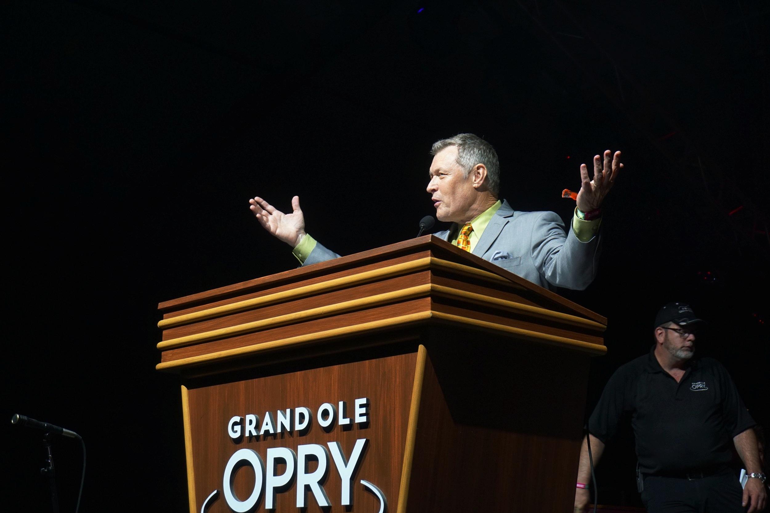 Grand Ole Opry emcee Bill Cody of 650 AM WSM