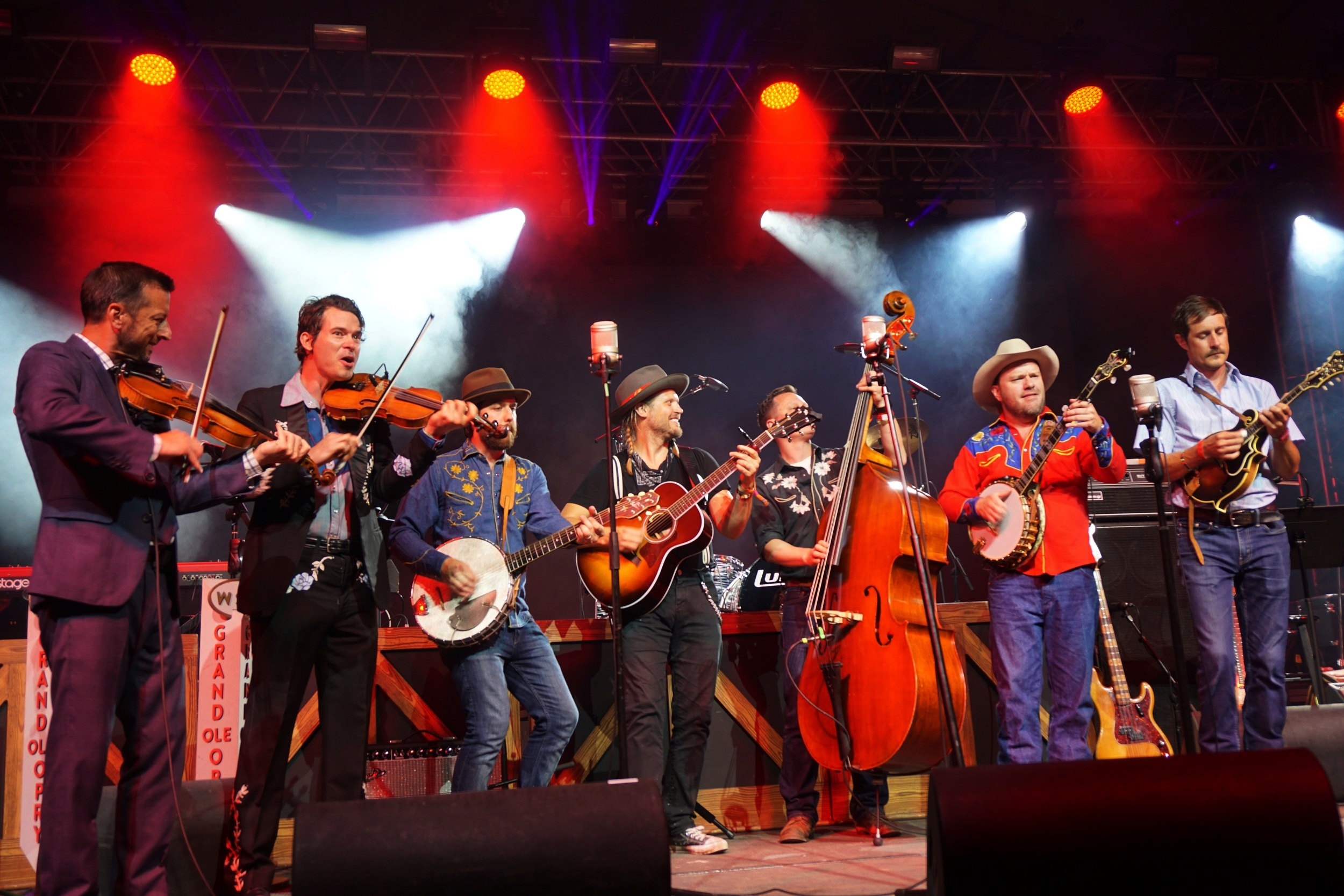Old Crow Medicine Show opening the Grand Ole Opry at Bonnaroo.