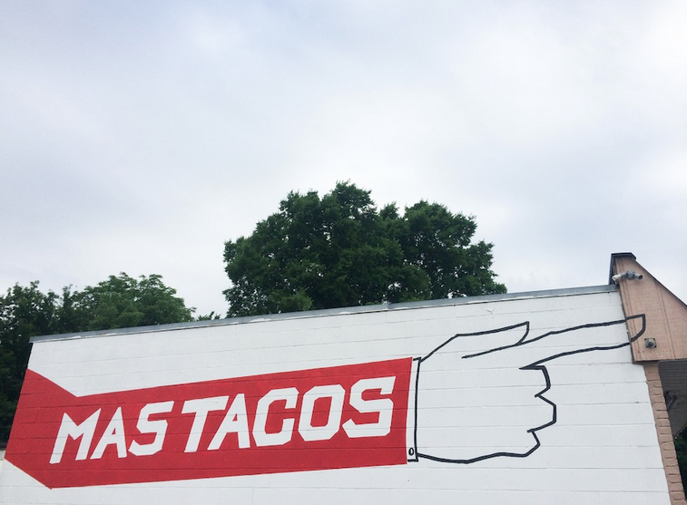 """2:00 PM; Mas Tacos - A brief respite from the general Wish Your Were Here press push in Nashville. """"A little taste of home"""" according to long time Walker collaborator Nathan Mongol Wells."""