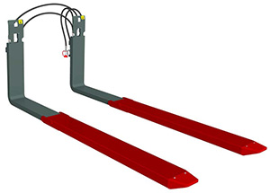 TELESCOPIC FORKS - Telescopic Forks enable the stacking of palletized goods to the opposite side of trucks or in double-deep racks.