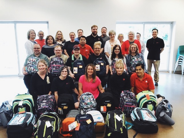 Lofton Label & Packaging held a company wide bag drive & donated 25 placement bags! July 2019.