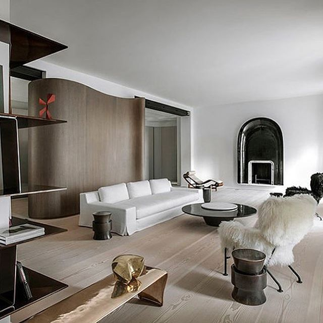 This Parisian home is perfection. 🖤  Designer: @francoischampsaur  Styled Interiors Inspo | #luxuryhome #parisianapartment #boutiquehome #parisianhome #eleganthome #torontodecorator #gtarenovations #artinspired
