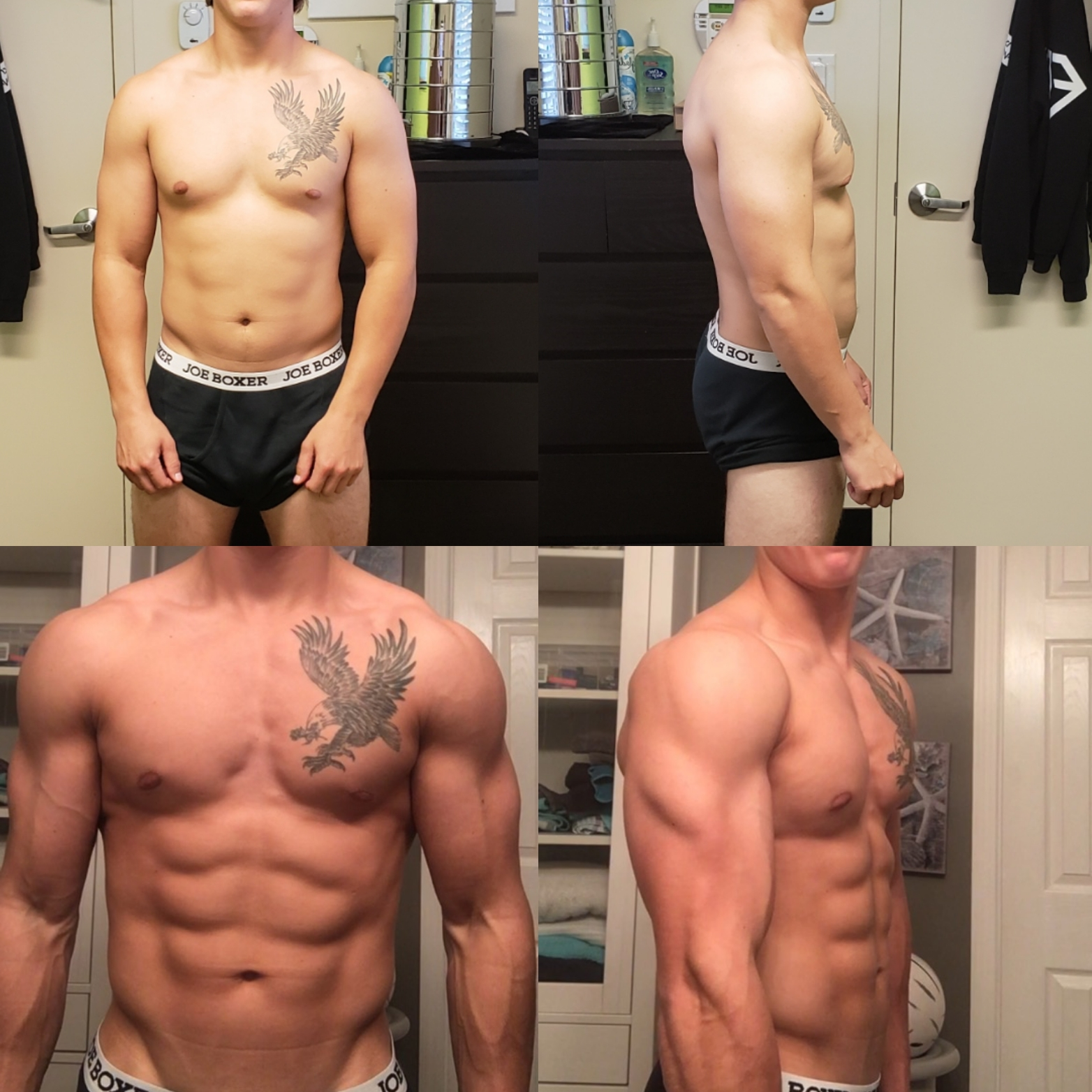 Curtis - Curtis was working construction and attending some university courses! He wanted to learn about food and lean out in the process! He managed to drop body fat and gain muscle!