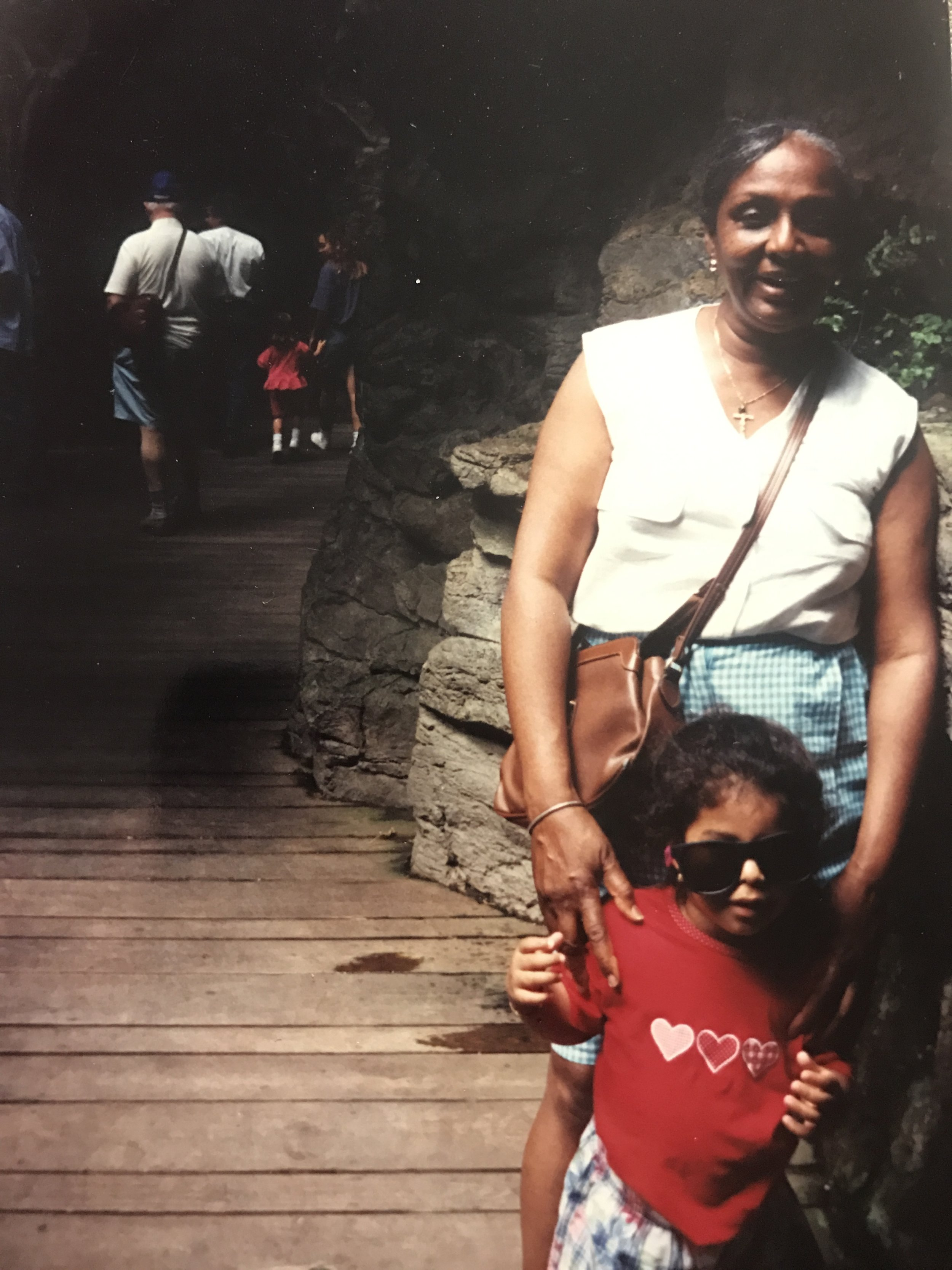 My grandmother and I at the Bronx Zoo.