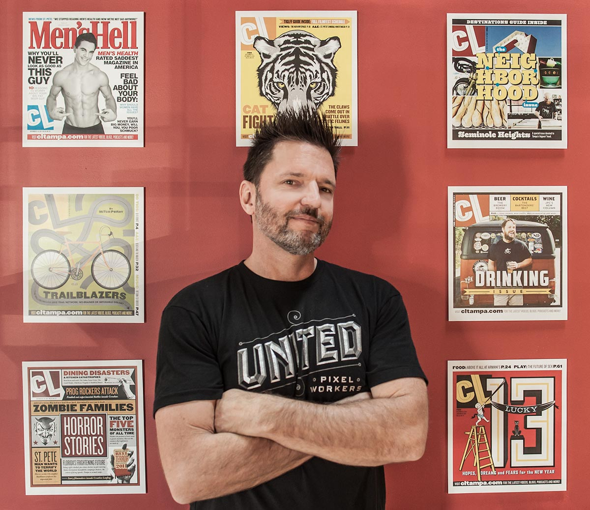 A retrospective show featuring covers from 25 years of   Creative Loafing  . Todd has designed hundreds of covers for the Tampa based weekly and won numerous awards from the Association of Alternative Newsmedia, the Society for Professional Journalists and his covers have appeared in  Print magazine.