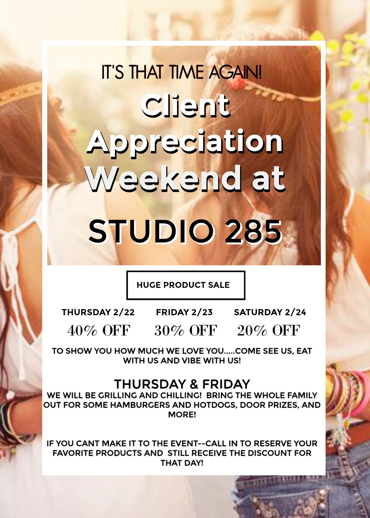 Studio 285 evans GA client appreciation