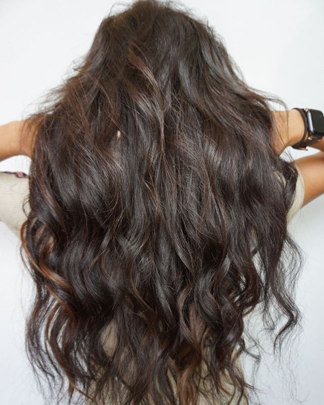 "Luscious curls 🌀hair by ➡@bohobritt - achieved this look with 22"" curly fusions and a dark toner • • • • • #studio285 #285girl #285hair  #boho #bohobritt #beachedbybritt #modernsalon #behindthechair #extensions #fusions #toner #augustahair #atlantahair #miamihair #newyorkhair"