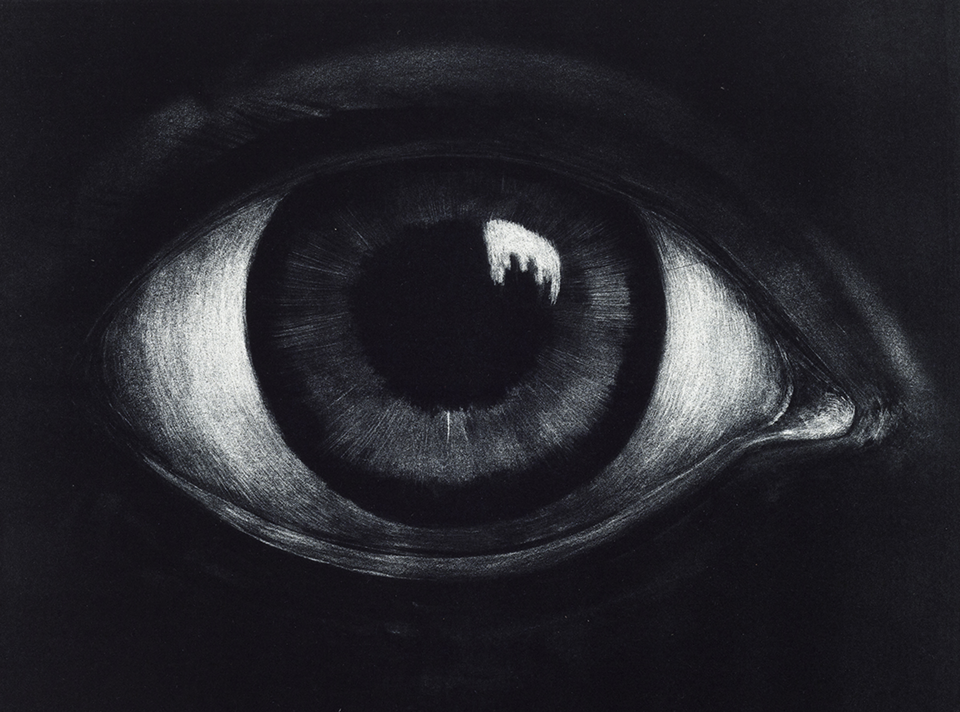 Eye , maniere noire lithography