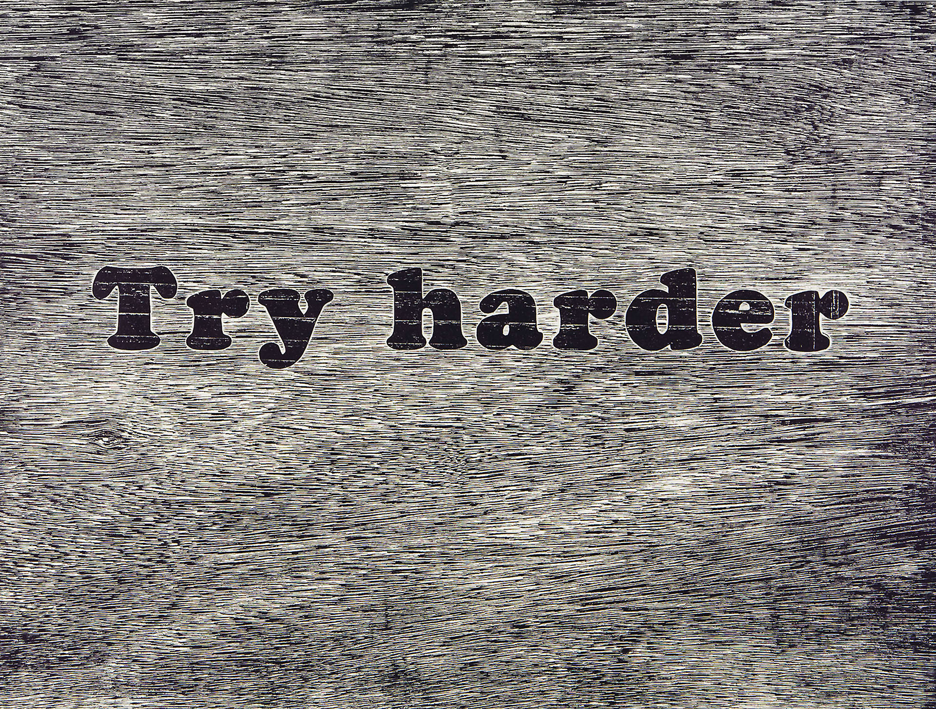 "Try Harder , relief, 18"" x 20"", 2011"