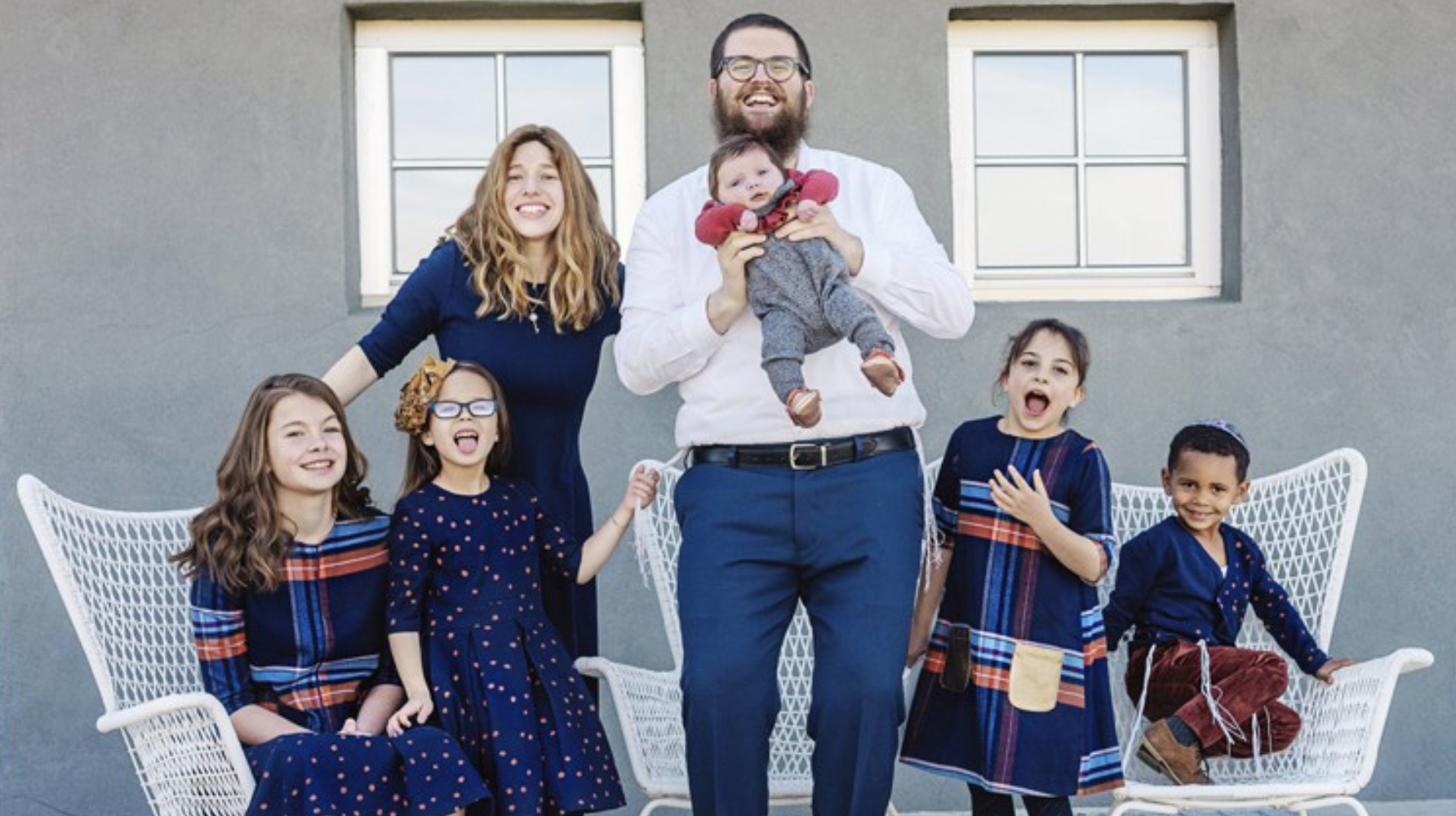 Rabbi Chaim, his wife Chavie and their five adopted children