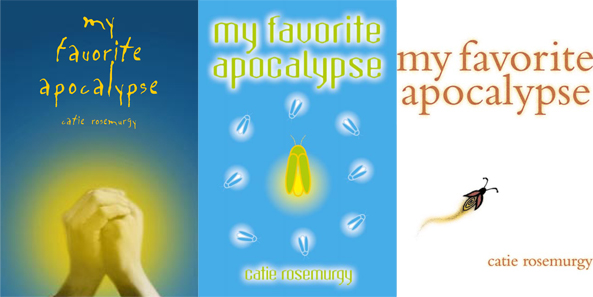 Some of the initial cover comps presented for My Favorite Apocalypse by Studio Haus.