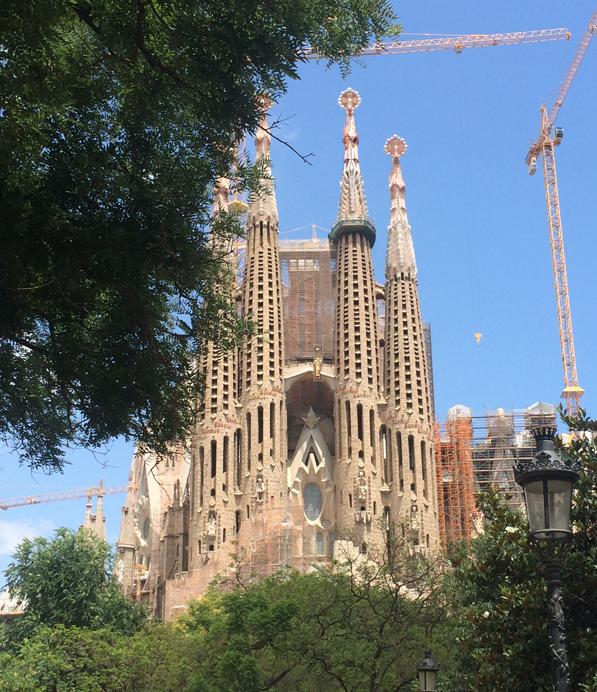 IMAGE: Exterior view of one of La Sagrada Familia's three facades, the Passion facade.