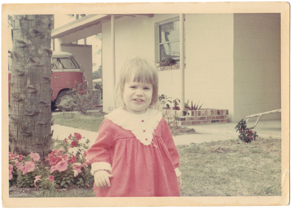 """I loved red so much as a child that the """"red gress"""" was always what I requested to wear."""