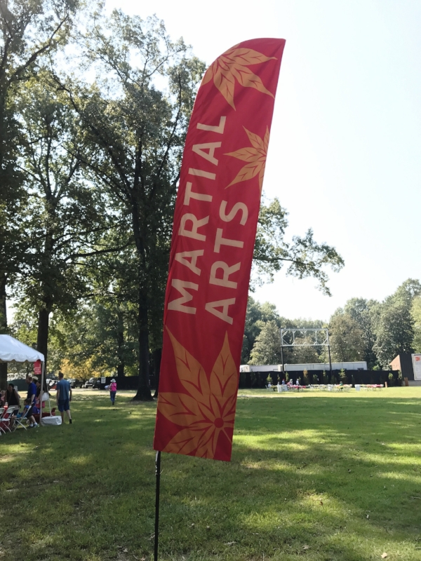 Flag banners were placed throughout the festival grounds.