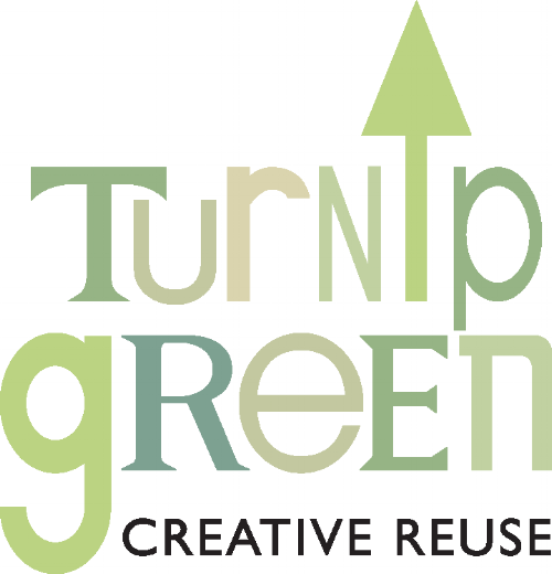 With the directive to maintain the arrow as part of the brand, the new TGCR brand needed to convey the idea of reuse and up-cycling. The logo design did this by incorporating several lettering styles into one mark, reflecting the large selection of materials the TGCR has in stock for reuse. Green of course was the preferred color.