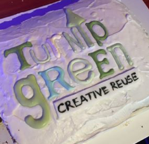I don't know that I've ever had a logo reproduced in icing but it sure was delicious!
