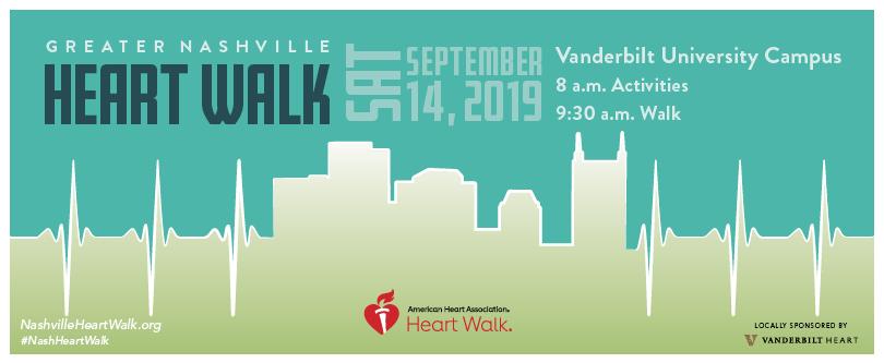 American Heart Association Greater Nashville Heart Walk Facebook cover image.