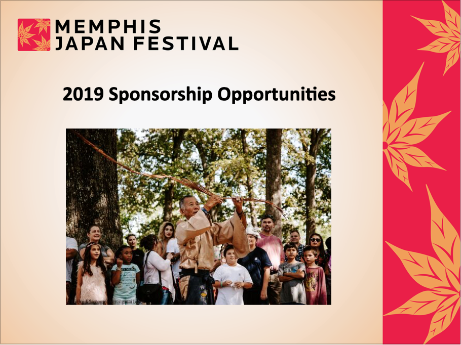 Power Point page for Japan-America Society of Tennessee's 2019 Memphis Japan Festival.