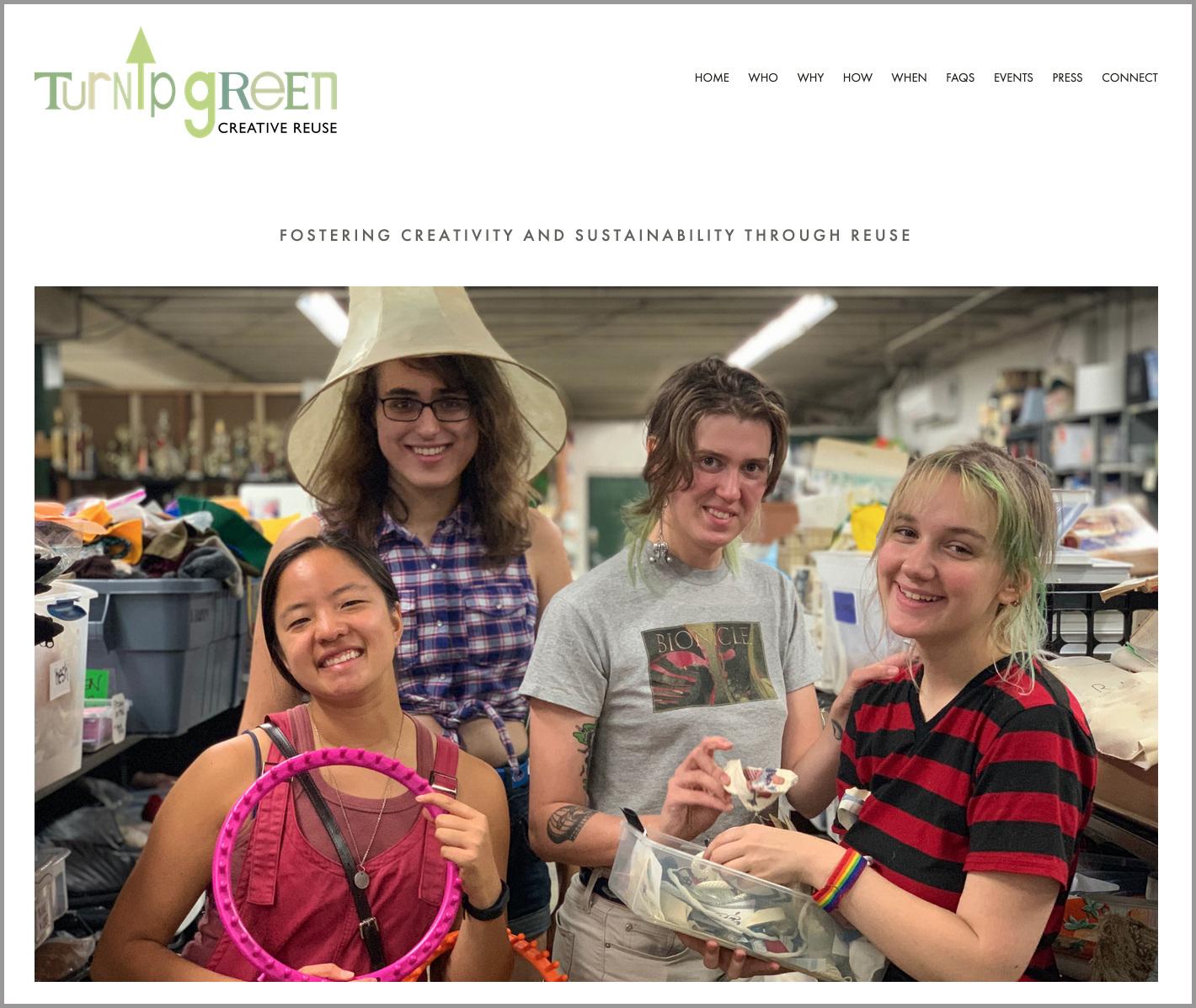 Complete overhaul of Turnip Green Creative Reuse's web site.