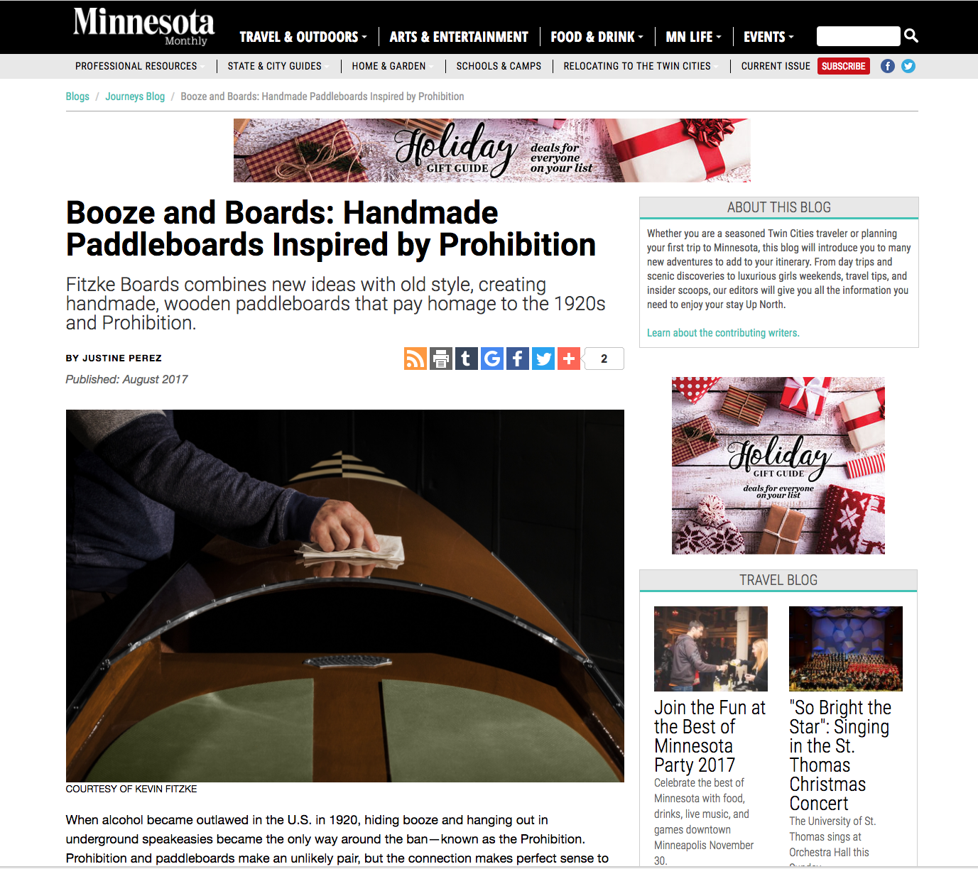 Featured Article - Minnesota Monthly Magazine