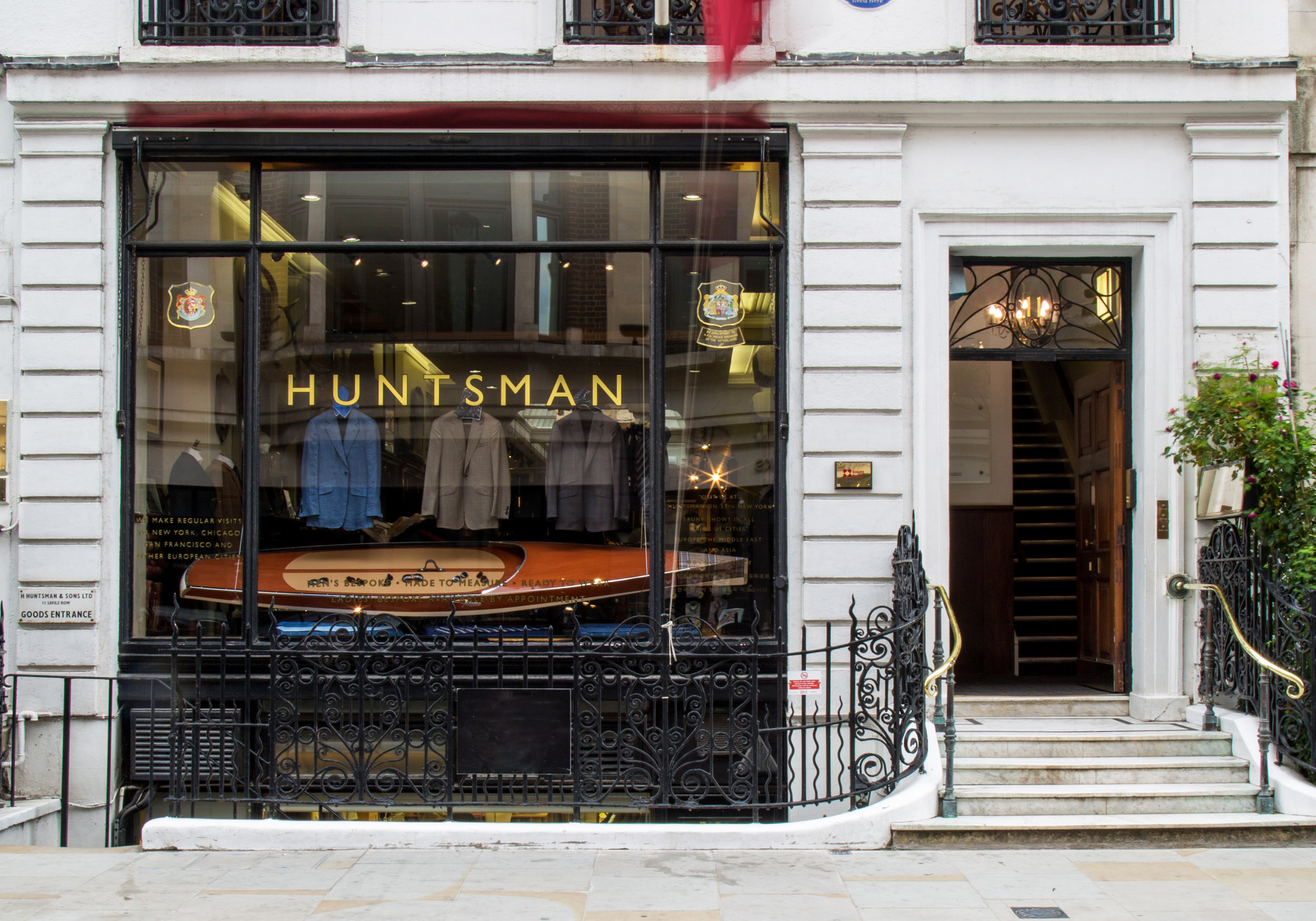 Product Display - Huntsman Bespoke Tailor Flagship Store in London