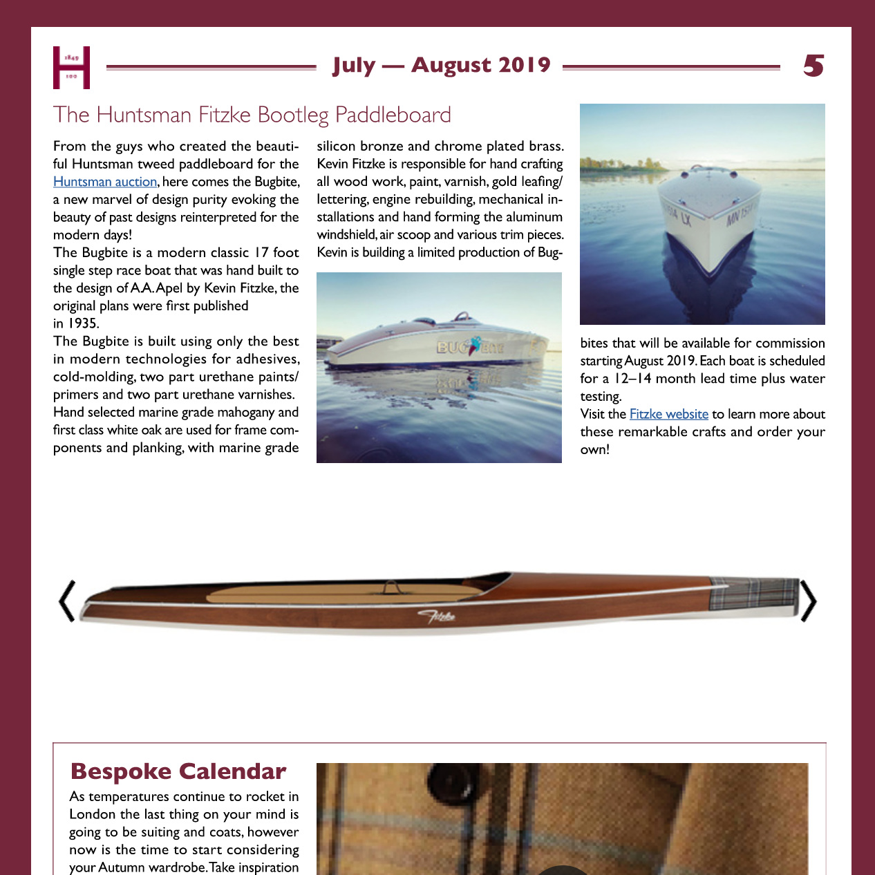 August 2019 Gazette Feature - Hunstman Saville Row Tailors