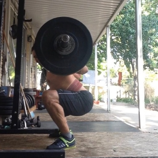 """Getting in some back squats at """"the Zoo."""""""