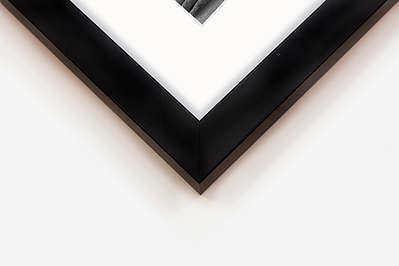 Classic Frame - The photography is printed on 100% cotton Fine Art Paper and mounted to ensure its flatness. It is then framed in a made to measure wooden frame with high quality shatter-proof acrylic glass. Our wooden frames are available in Black and painted White. A wood picture frame is a classic choice that passed the test of time.