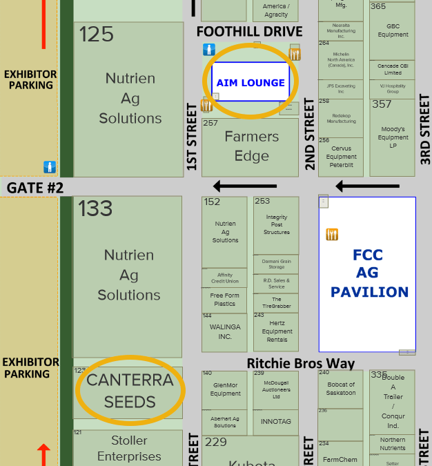 Find CANTERRA SEEDS at Booth 123. Click to see the full interactive map.