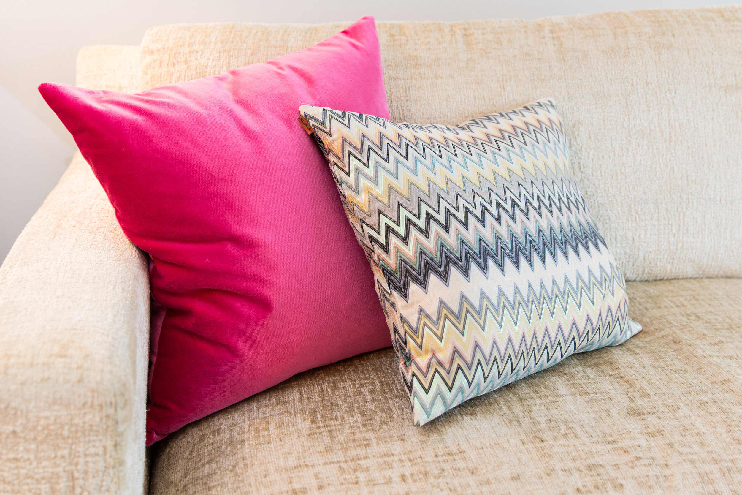 Sofa with Missoni Pillows