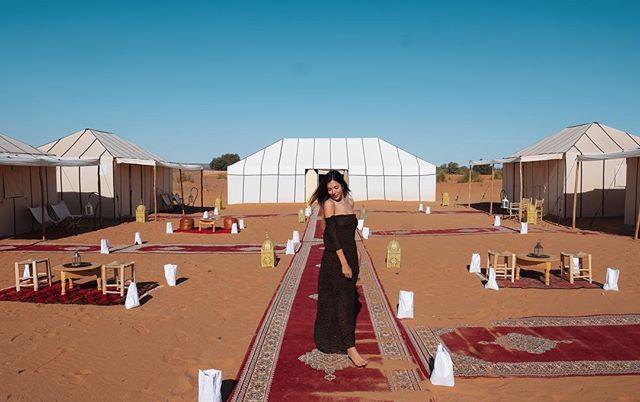 Day 11: Merzouga desert 🐫 @dihyadesertcamps  #merzougadunes #merzouga #merzougadesert #saharadesert #luxurycamp #camp #desert  #morocco #moroccotravel #marocco #maroc  #magicplaces #travelblog #travelblogger #traveldiary #morocco_vacations #femaletraveler #femaletravel #travelphotography #discovermorocco #moroccolives #inmorocco #visitmorocco #moroccovacations #moroccolives #travel #travelphotography #travelphoto #moroccohotels #moroccobestvacations