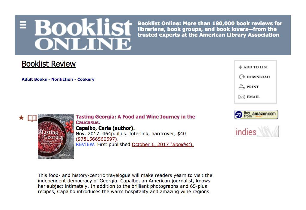 2017 Booklist Online