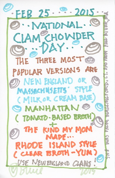 Clam Chowder 2015