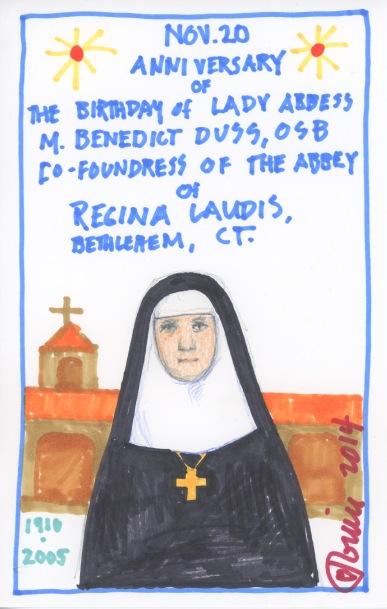 Mother Benedict 2014