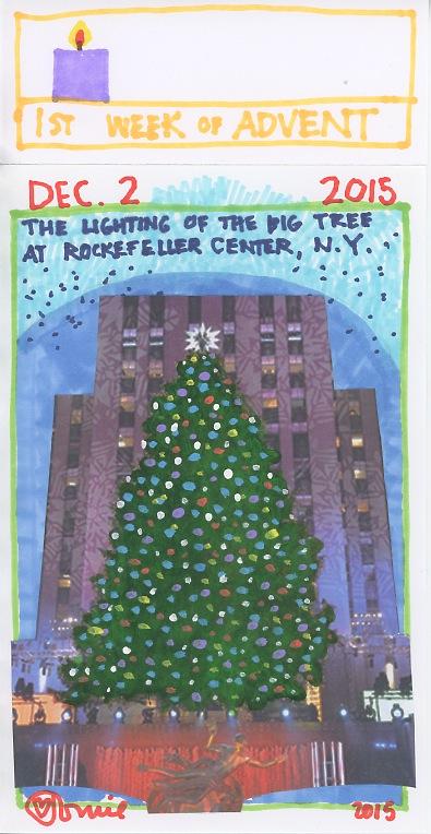 Rockefeller Center Tree Lighting 2015