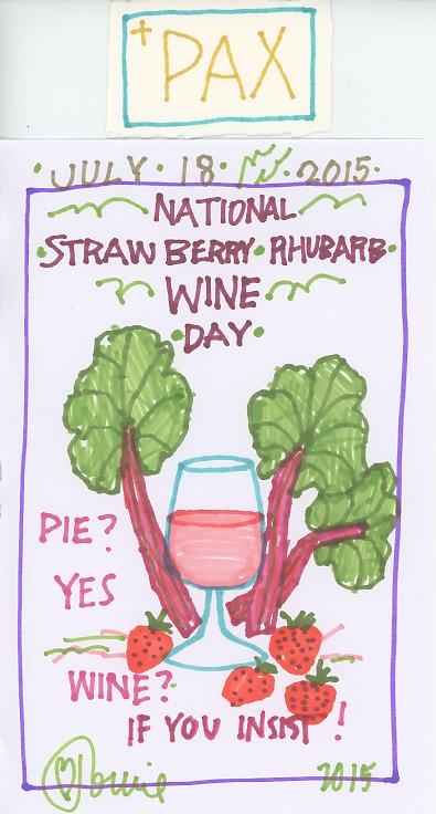 Strawberry Rhubarb Wine 2015