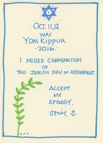 Yom Kippur 2016