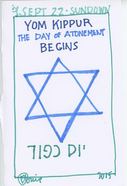 Yom Kippur Begins 2015