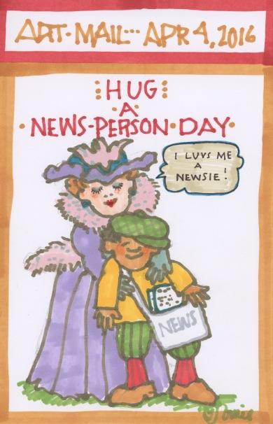 Hug a News Person 2016
